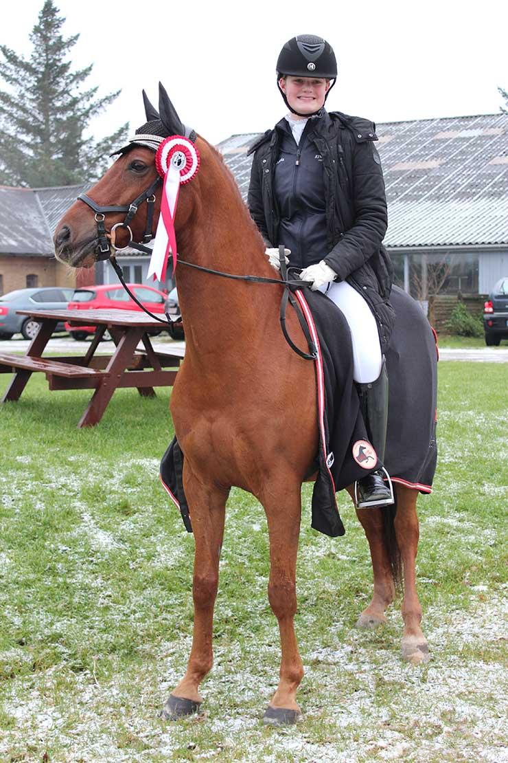 Maria og Charon sluttede pony-tiden med førsteplads