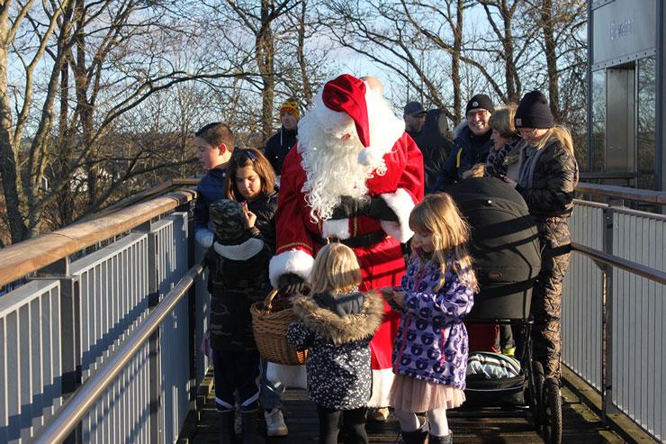 Julemanden på besøg i Støvring